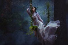 "Сoniferous lace. - MK ""Tales of the Forest""  make-up, hair, style, Katerina Plotnikova, Lady Zabiyaka  leading photographers Katerina Plotnikova, Lady Zabiyaka"