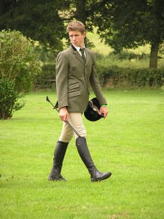 Roderick, but he should be dark haired // horseback rider men | Flickr: The Men Into Horse Riding Outfits Pool