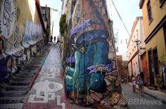 南米チリ中部にある世界遺産の港湾都市バルパライソ(Valparaiso)の街並み(2014年1月22日撮影、資料写真)。(c)AFP/FRANCK FIFE ▼14Apr2014AFP|大火災のバルパライソ、「太平洋の宝石」と呼ばれた世界遺産都市 http://www.afpbb.com/articles/-/3012533 #Valparaiso