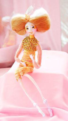 Collectible doll - Fairy Doll - Art doll - OOAK doll - Handmade doll Dress-up fairy gift posable fairy tales angel doll lovely doll