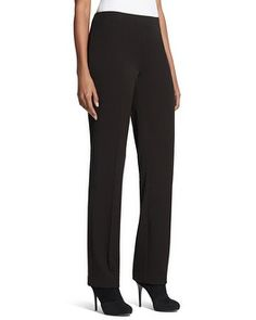 Perfect-fitting trouser pants are a must-have style staple. In our refined fabric, the sophisticated crease down the front leg streamlines the silhouette for a city-chic look. #chicossweeps