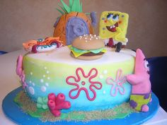 spongeBob cake 2 | Flickr - Photo Sharing!