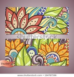 Find Vector Set Floral Banner Place Text stock images in HD and millions of other royalty-free stock photos, illustrations and vectors in the Shutterstock collection. Thousands of new, high-quality pictures added every day. Mandala Art, Mandala Design, Art Mural Floral, Mural Art, Murals, Art Pop, Garden Mural, Floral Banners, Indian Art Paintings