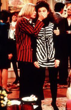"""C.C. Babcock und Fran Fine in """"Die Nanny"""" - beste Freundinnen sehen anders aus ..."""