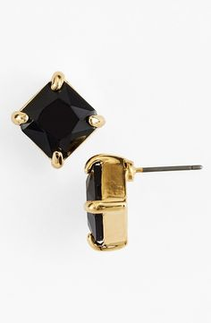I could wear these. Jewelry Accessories, Fashion Accessories, Fashion Jewelry, Jewelry Box, Jewelry Watches, Jewellery, Jewelry Ideas, Black Earrings, Stud Earrings