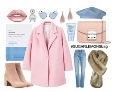 """Untitled #23"" by tanatdont on Polyvore featuring Levi's, MANGO, Gianvito Rossi, Furla, Estée Lauder, Christian Dior, Lizzie Fortunato, Marc Jacobs and Lime Crime"