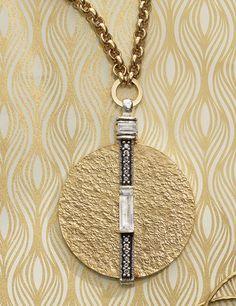 Brass pendant necklace