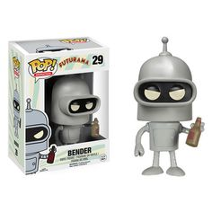 This is a Bender POP Vinyl Figure that is produced by Funko. The Bender POP Vinyl figure is part of Funko's Futurama line of character POP Vinyl's and he looks fantastic. Futurama fans are going to be Futurama Bender, Funko Pop Toys, Funko Pop Vinyl, Pop Vinyl Figures, Iron Maiden, Goodies Manga, Pop Figurine, Funk Pop, Funko Figures