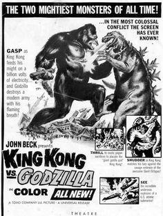 Ad for King Kong vs. Godzilla