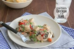 Slow Cooker Chicken a la King - Taste and Tell