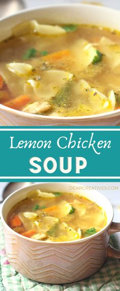 Are you ready to make soup? This Lemon Chicken Soup is bright and flavorful! Prep for this homemade-soup recipe is easy, total time about an hour. A lemony chicken soup can comfort those who are sick or just warm you up on a cold day! Eat a bowl of freshly made chicken soup with lemon. #souprecipe #lemonchickensoup #lemonchickensouprecipe #chickensouprecipe #flavorful #bright #comfortfood #homemadechickensoup #delicious #homemadechickensouprecipe #fresh #healthy #tasty #delicious… Homemade Chicken Soup, Chicken Soup Recipes, Chili Recipes, Lemon Chicken, Comfortfood, Cheeseburger Chowder, Stew, Soups, Tasty