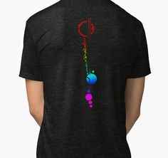 Commander Lexa's Tattoo (Rainbow) | Tri-blend T-Shirt