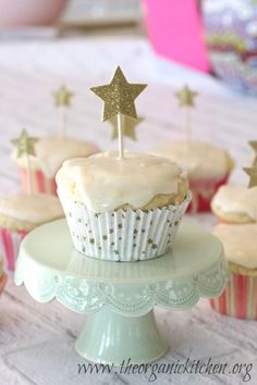 The Best Ever Lemon Cupcakes with Lemon Glaze | The Organic Kitchen Blog and Tutorials