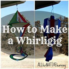 How to make a whirligig and wind spinner out of Styrofoam and ribbon. This is a DIY project for the Project Recycle and Create series. Diy Generator, Homemade Generator, Plastic Bottle Art, Plastic Craft, Plastic Milk, Garden Wind Spinners, Homemade Tables, Weather Vanes, Small World Play