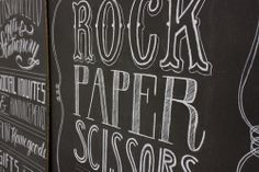 molly jacques lettering for rock paper scissors