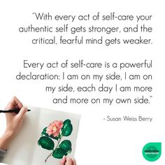 Isn't it time you were on your own side?  .  Self care is a revolution.  It is not selfish, nor self-centred.  After all, it ensures you have so much more mental, emotional and physical energy to give to others.  .  What did you do to top up your self care cup this weekend?  .  - Jodie, @healthybalancefitness_  @zoe.dietitian.lovewhatyoueat