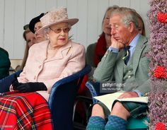(EMBARGOED FOR PUBLICATION IN UK NEWSPAPERS UNTIL 48 HOURS AFTER CREATE DATE AND TIME) Queen Elizabeth II and Prince Charles, Prince of Wales attend the annual Braemar Highland Games at The Princess Royal and Duke of Fife Memorial Park on September 7, 2013 in Braemar, Scotland. (Photo by Max Mumby/Indigo/Getty Images)