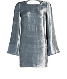 WHOA -  LOVE IT DESIGNER: MISSONI DETAILS HERE: Velvet Backless Dress in Silver Grey