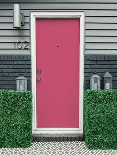 Give your home instant curb appeal by simply updating your front door with a fresh coat of paint.