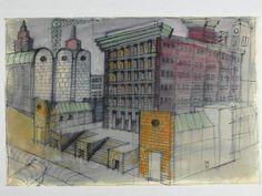 Dal 20 settembre, la galleria milanese Antonia Jannone propone venti opere del grande architetto nel suo periodo più maturo: acquerelli, collage, disegni a penna e matita immergono il visitatore nel progettare a colori di Aldo Rossi.
