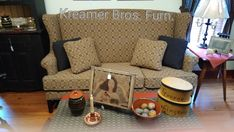 Kreamer Brothers Furniture is a family-owned furniture store and features a variety of home furnishing styles with an emphasis on country furniture for South Central Pa. Primitive Furniture, Country Furniture, Country Sofas, Brothers Furniture, Primitive Country, Primitives, Home Furnishings, Armchair, Fabrics