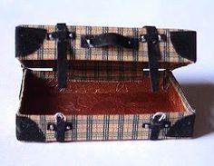 how to: Burberry suitcase, Koffer für das Puppenhaus