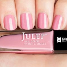 Julep: Edith (Classic with a Twist) cherry blossom pink crème with holographic glitter $7 shipped