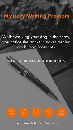 All writers need a bit of extra inspiration sometimes, and our list of user-submitted writing prompts can be a great way to beat #writersblock. Use, share and submit your own your writing prompts on our #writingprompts page.
