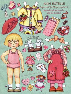 ME Paper dolls - DollsDoOldDays - Picasa Web Albums Mary Engelbreit, Doll Patterns, Collages, Valentine Cards, Valentine Theme, Valentines, Valentine Treats, Mary Mary, Paper Art