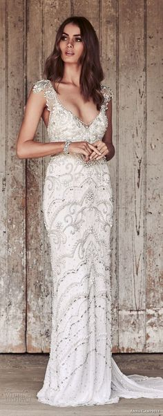 anna campbell 2018 bridal cap sleeves v neck full beaded embellishment elegant glamorous sheath wedding dress open back sweep train (8) mv -- Anna Campbell 2018 Wedding Dresses #wedding #bridal #weddings