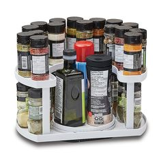 Spice Rack Organization, Kitchen Organization Pantry, Spice Storage, Diy Kitchen Storage, Home Organization Hacks, Organizing Ideas, Rotating Spice Rack, Spice Bottles, Valeur Nutritive
