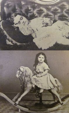Little girl in two poses. Top is not a post mortem as labelled originally.