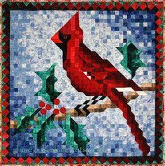 """Cardinal Pattern by Jane L Kakaley - 41"""" x 41"""""""