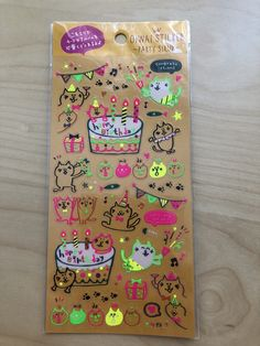 Excited to share the latest addition to my #etsy shop: Cute Neon Cat birthday stickers http://etsy.me/2jxuMUF #supplies #cardmakingstationery #neon #cat #birthday #party #neko #planner #agenda #sutekistickers