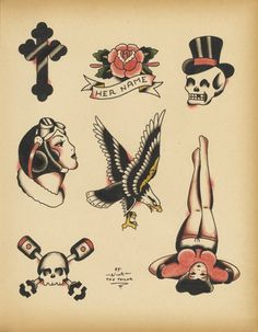 old school biker tattoos - Google Search