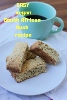 Have you been searching for the perfect South African vegan rusk recipe? Try this simple recipe and be prepared to fall in love. Coffee and rusks = heaven. Baking Recipes, Vegan Recipes, Vegan Foods, Vegan Snacks, Curry Recipes, Healthy Treats, Free Recipes, Healthy Eating, Kos