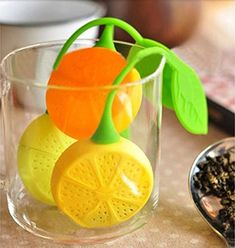 1pcs, Lemon Style Cute Tea Filter Bag Strainer Teacup Teapot Infuser Teabag Silicone ** Want to know more, click on the image.