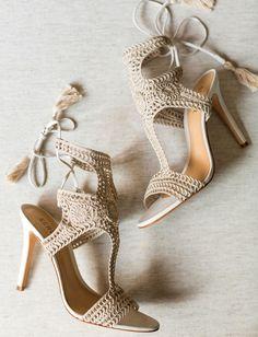 4cc20d7d8d macrame heels Wedding Guest Shoes, Boho Wedding Shoes, Rustic Boho Wedding,  Wedding Shoes