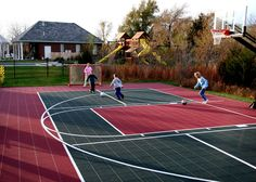 With a VersaCourt Multi-Sport Game Court system yo. With a VersaCourt Multi-Sport Game Court system you can enjoy everything from basketball to tennis to shuffleboard; there is something for all ages. Fsu Basketball, Outdoor Basketball Court, Basketball Equipment, Basketball Floor, Basketball Backboard, Backyard Sports, Backyard Basketball, Pool Backyard, Backyard Ideas