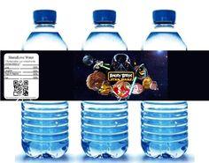 Star Wars Angry Birds Water Bottle Label Children by SharedLove, $2.50