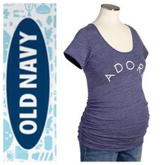 Old Navy Scoopneck Tee New in package, came without tags attach. Bought this in 2 sizes & I fit the size small better when I was going my last trimester. This is size XS. Price is firm.     Absolutely No Trades.Paypal.Holds  PRICE FIRM, unless bundle 10% off 3+ items  Shipped Next Business Day   Thank You Old Navy Tops