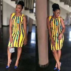 Simple Ankara Gown Style - DeZango Fashion Zone