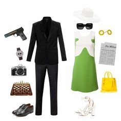 """""""Illya and Gaby-The Man From U.N.C.L.E"""" by conquistadorofsorts ❤ liked on Polyvore featuring art"""