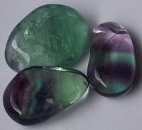 Fluorite    Fluorite is said to absorb and neutralise negative emotions. It is also said to help increases concentration and decision-making capabilities.