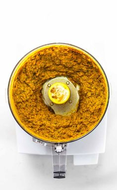 Easy Homemade Yellow Curry Paste: made with ingredients that can be found at almost any grocery store - this easy recipe takes 45 minutes and gives you enough curry paste for 4+ batches of curry, and it freezes perfectly. @pinch