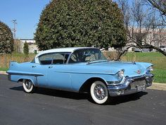 1957 Cadillac Sedan DeVille.. This is just like the car we drove off in after our wedding! Love it!