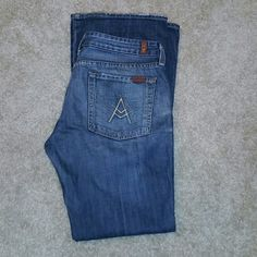 "7 FAM jeans Pre loved 7 For all mankind jeans 32"" inseam. Boot cut. Some minimal fraying on bottom from normal wear. Great condition. Offers welcome 7 for all Mankind Jeans Boot Cut"