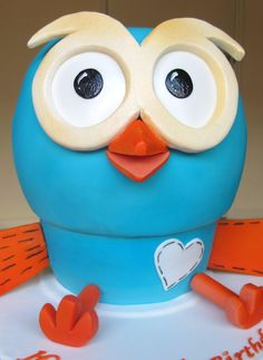 'Hoot' from 'Giggle and Hoot', the ABC kids show - made from 3 stacked chocolate cakes. Special Birthday Cakes, Boy Birthday, Birthday Parties, Teen Cakes, Abc For Kids, Kids Shows, Cake Creations, Cake Cookies, Some Fun