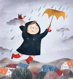 Momolu - I love the rain -Illustration