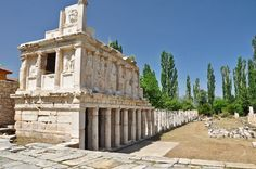 """The Sebasteion, or Augusteum of Aphrodisias (a small ancient Greek city in Caria, in modern day Turkey) was dedicated to Goddess Aphrodite. The city of Aphrodisias was named after Aphrodite, the Greek goddess of love, who had here her cult image, the Aphrodite of Aphrodisias. The Sebasteion was dedicated, according to a 1st century inscription on its propylon, """"To Aphrodite, the Divine Augusti and the People""""."""
